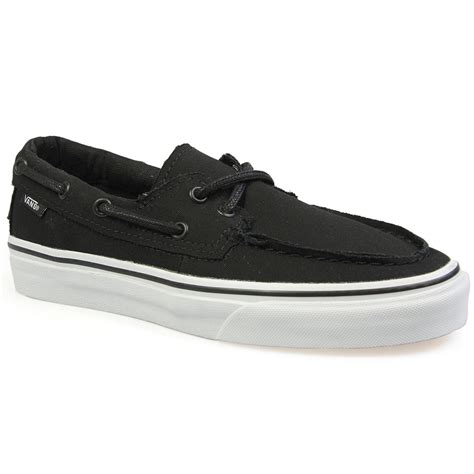 Vans Zapato vans zapato black white canvas mens womens trainers