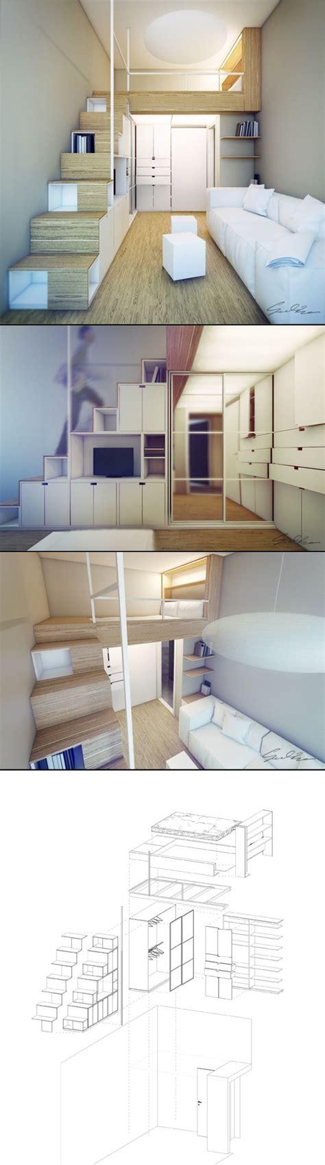 loft beds for studio apartments mezzanine pour chambre c 244 t 233 rue rangement sous dans