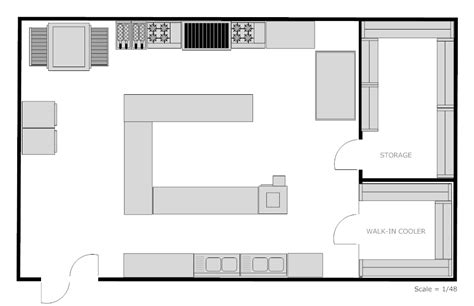 Kitchen Templates For Floor Plans | exle image restaurant kitchen floor plan this n that