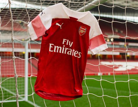 Arsenal Home Season arsenal new kit launch ozil and bellerin unveil 2018 19