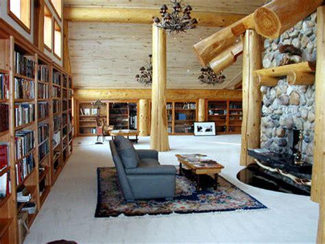 roots   wood  log home interiors