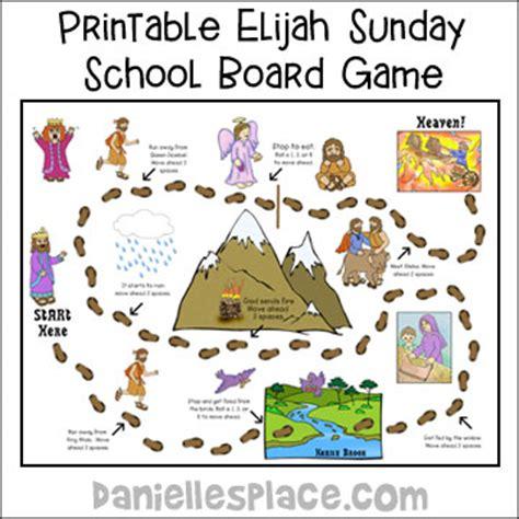printable board games for sunday school elijah bible crafts for kids