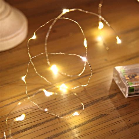 how are fairy lights wired micro battery lights on silver wire 20 leds
