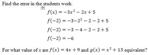 evaluating functions worksheet  answer key
