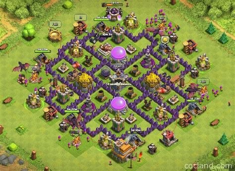 coc town hall 7 trion excellent town hall 7 farming base clash of clans