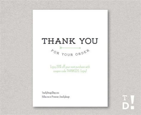 Purchase Order Thanks Letter Thank You For Your Order Card Printable Instant Artistically Linear Cards And Thank