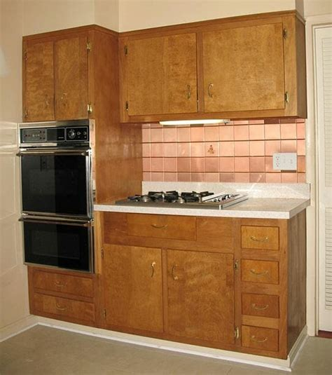 Wood Kitchen Cabinets Wood Kitchen Cabinets In The 1950s And 1960s Quot Unitized Quot Vs Quot Modular Quot Construction Retro