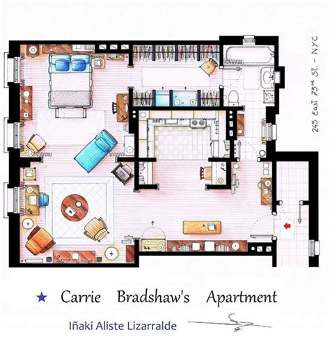 Carrie Bradshaw Apartment Floor Plan | sexy in the city take a look inside carrie bradshaw s