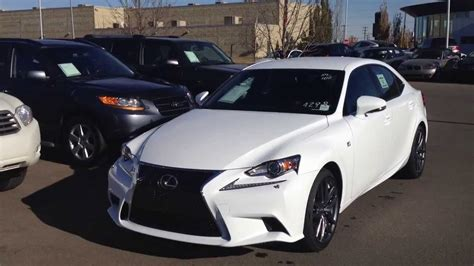 lexus 2014 white 2014 lexus is 350 awd white lexus of edmonton youtube