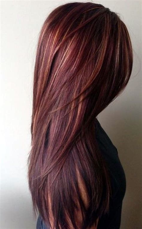 hairstyles burgundy highlights best 25 burgundy hair highlights ideas on pinterest
