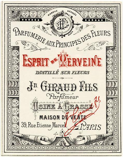 design vintage label french perfume label vintage ephemera