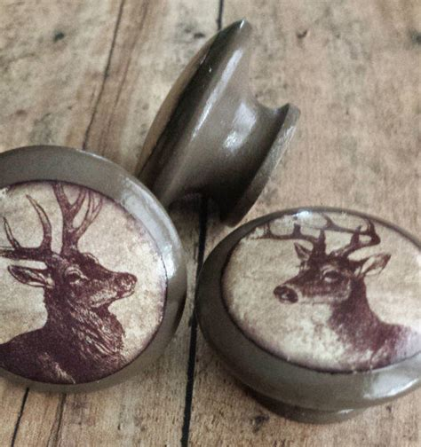 Deer Antler Knobs by Handmade 1 5 Quot Deer Birch Knobs From Srvintageanddesigns On