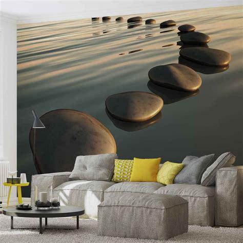 Zen Wall Murals stones ripples zen wall paper mural buy at europosters