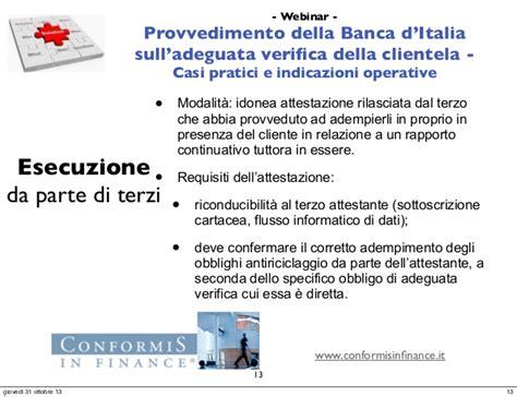 antiriciclaggio d italia webinar il provvedimento della d italia sull