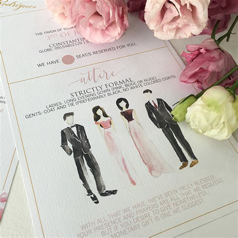 Wedding Attire Verbiage by Invitation Card Dress Code Choice Image Invitation