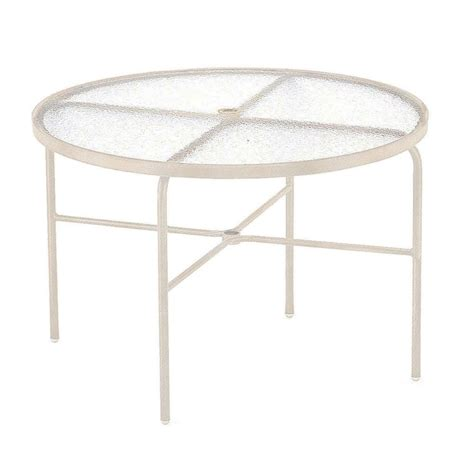 tradewinds outdoor furniture tradewinds 42 in antique bisque acrylic top commercial