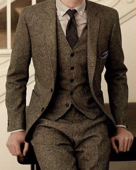 brown pattern suit latest coat pant designs brand brown tweed suit men set