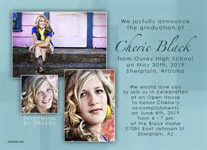 high school graduation invitation graduation announcement and invitation wording ideas