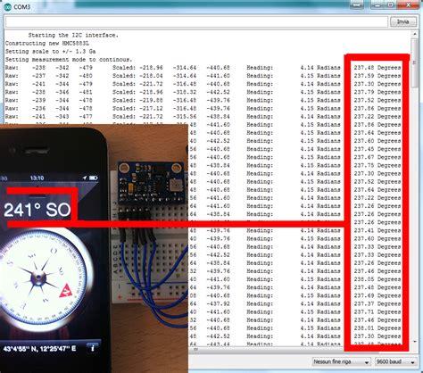 arduino code hmc5883l creative electronic arduino simple compass with