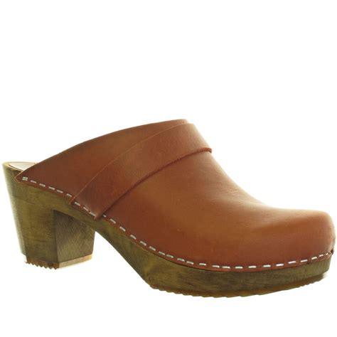 wooden heel clogs for sanita iris leather wooden heel clogs size 3 8 ebay