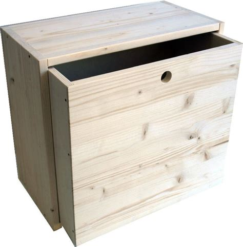 cassetti legno grezzo market legno cassetto eco cubo grande cm 43x40x23 5