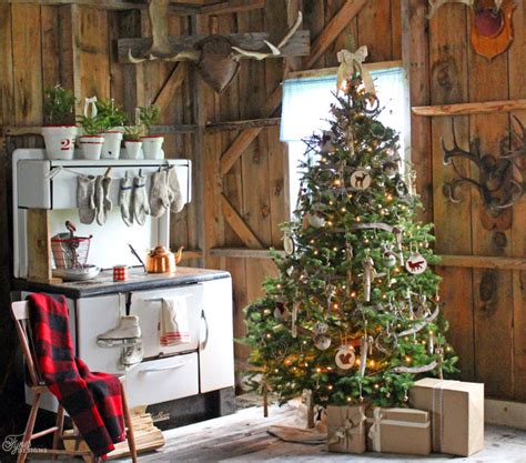 homespun woodland christmas tree yourself a rustic fynes designs fynes designs