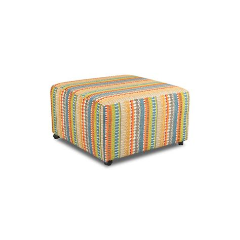 Colored Ottoman by Spain Multi Colored Upholstered Contemporary Ottoman