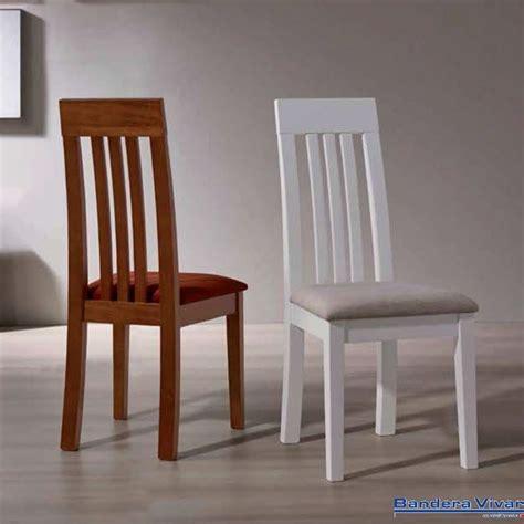 sillas comedor madera silla de sal 243 n madera de pino con asiento tapizado