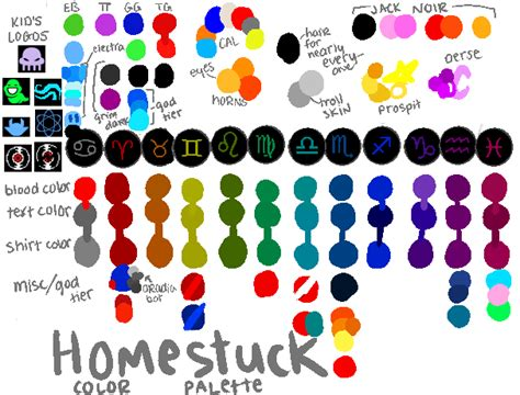 homestuck color palette by deliale on deviantart