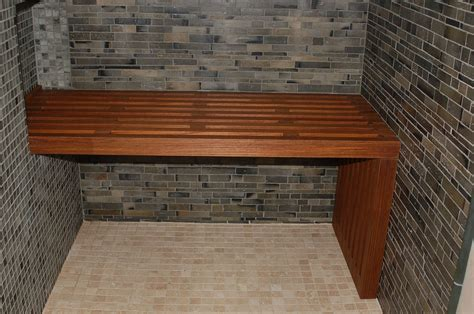custom teak shower bench custom made teak bench by paragon woodworking custommade com