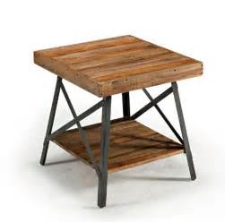 Rustic End Tables And Coffee Tables Rustic Side Table Wooden Reclaimed Wood End Diy Industrial