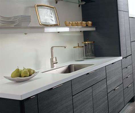 contemporary laminate kitchen cabinets in woodgrain