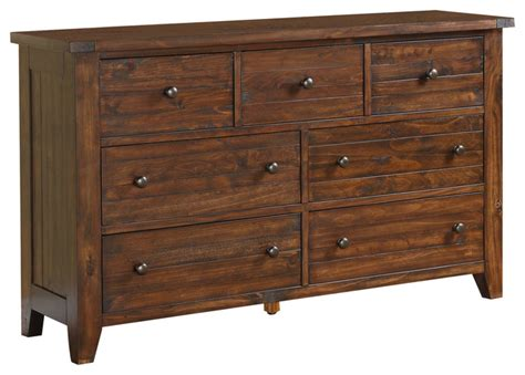 Solid Wood Dresser by Cally Solid Wood Dresser Craftsman Dressers By Modus