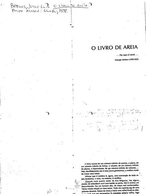 Jorge Luís Borges - O livro de areia - Análise