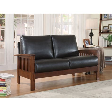 mission oak leather sofa mission oak faux leather loveseat brown sofas