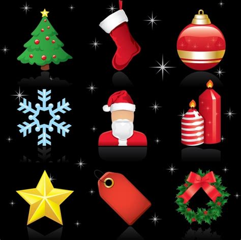 exquisite christmas ornaments vector free vector in