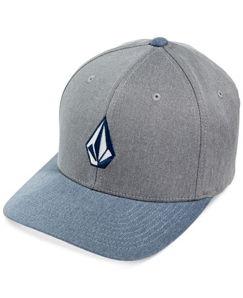 Volcom Logo Blue Pink Shirt volcom embroidered logo hat in blue for lyst