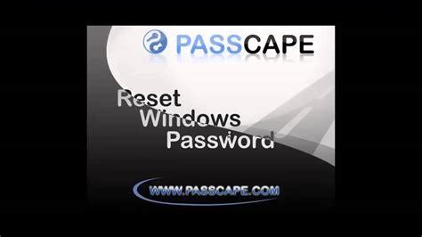 Passcape Reset Windows Password Youtube | passcape reset windows password youtube