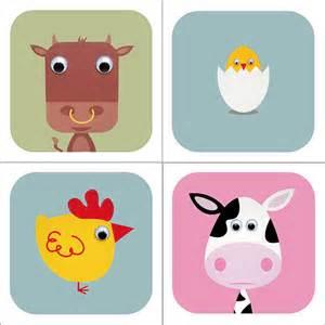 farmyard animal cards by stripeycats notonthehighstreet