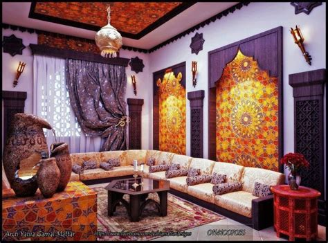 moroccan inspired living room for the home