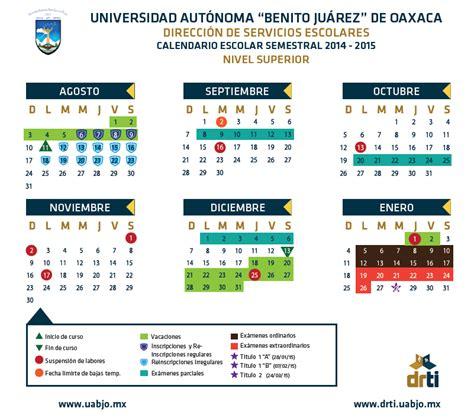 Calendario Escolar Uanl 2015 Calendarios Escolares Universitarios Calendariolaboral