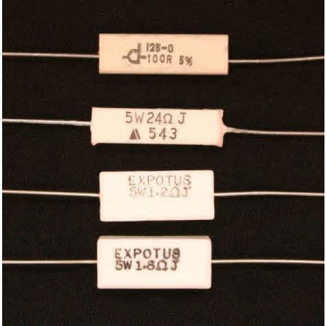 ceramic resistor network ceramic wire wound resistors 5w resistors pots switches
