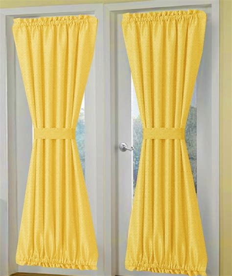 Solid Yellow Curtains Solid Golden Yellow Door Curtain Panels
