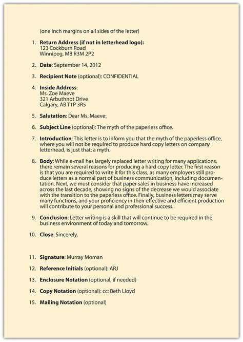 Business Letter In Business Communication Pdf business communication letter format letters free