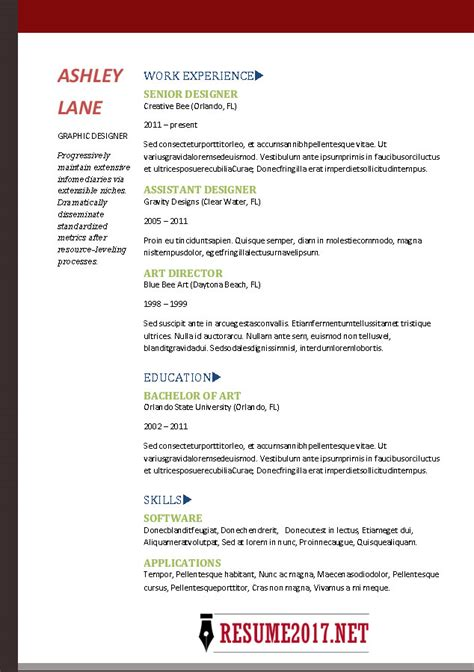 Resume Template 2017 Exles Resume Format 2017 16 Free To Word Templates