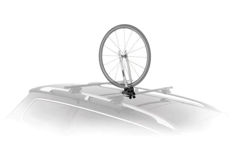 Wheel Bike Rack by Thule 593 Wheel On Thule Roof Mount Bike Wheel Rack