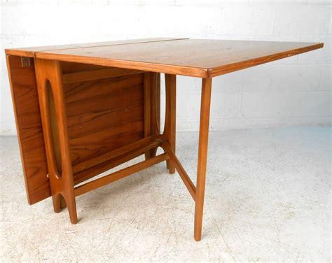 Teak Drop Leaf Dining Table Mid Century Modern Bruno Mathsson Style Teak Drop Leaf Dining Table Image 2