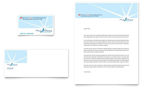 House Cleaning & Housekeeping Business Card & Letterhead
