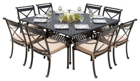 8 person patio dining set carrolton 8 person cast aluminum patio dining set with