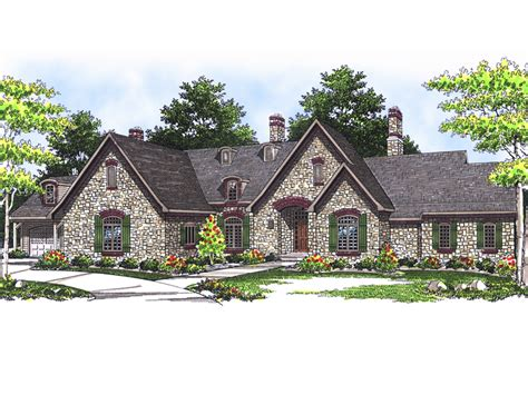 stone ranch with european flair hwbdo77256 ranch from liechtenstein european home plan 051s 0063 house plans